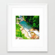 Gorge And Greenery Framed Art Print