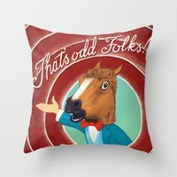 That Is Odd Throw Pillow