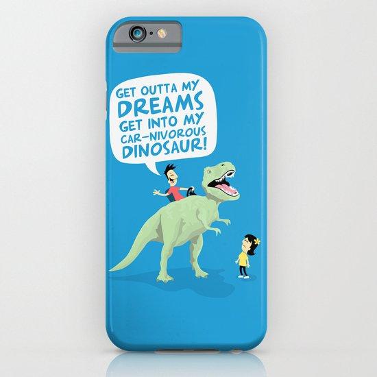 my car-nivorous dinosaur iPhone & iPod Case
