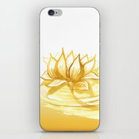 The Golden Lotus iPhone & iPod Skin