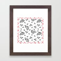 Holiday Joy: Pattern Framed Art Print