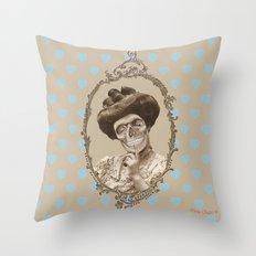 Madame Skull Throw Pillow