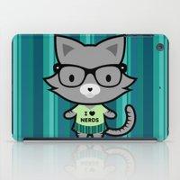 I Heart Nerds Kitty iPad Case