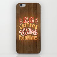 26 Letters Endless Possi… iPhone & iPod Skin