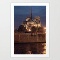 Paris By Night: Notre Da… Art Print