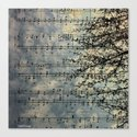 Music of wind Canvas Print