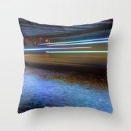 Into The Berlin Blue Nig… Throw Pillow
