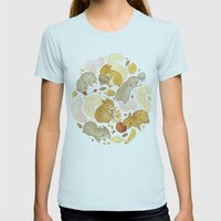 Things Squirrels Probabl… Womens Fitted Tee Light Blue SMALL