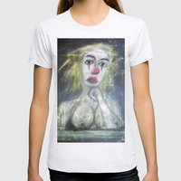 SADDEST CLOWN Womens Fitted Tee Ash Grey SMALL