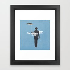fly fishing Framed Art Print