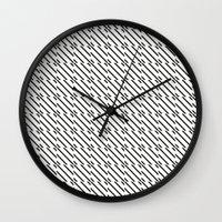 IJzerman Black & White Pattern Wall Clock