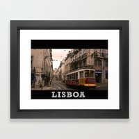 LISBOA STREETCAR Framed Art Print
