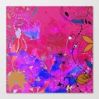 Boho Floral 2 Pattern Canvas Print