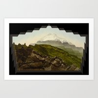 Shattered Mountain Art Print