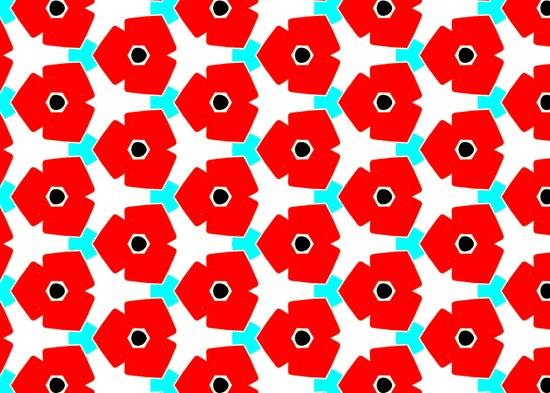 Herweije Retro Flower Pattern Art Print