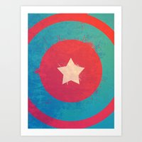 Captain's Sheild! Art Print