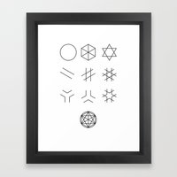 The Story of Geometry Framed Art Print