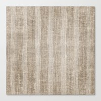 Striped burlap (Hessian series 3 of 3) Canvas Print
