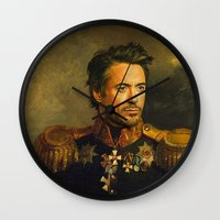 Robert Downey Jr. - replaceface Wall Clock