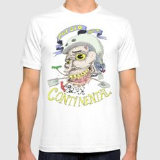 Park Continental White SMALL Mens Fitted Tee