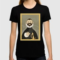 Nobleman with his Hand on his Chest by Greco Womens Fitted Tee Black SMALL