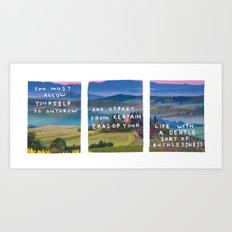 girl of the earth Art Print