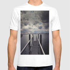Long walk short pier White Mens Fitted Tee SMALL