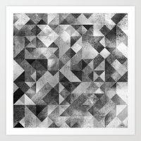 Moon Matrix Art Print