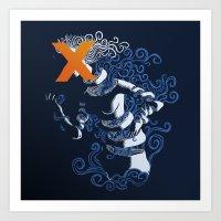 My Hideous X Art Print