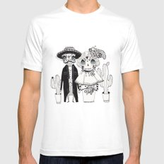 Day of the Dead Mens Fitted Tee White SMALL