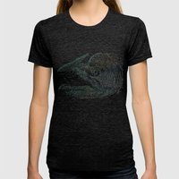 Chinook Hooks #1 Womens Fitted Tee Tri-Black SMALL