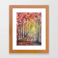 Path of Life Framed Art Print