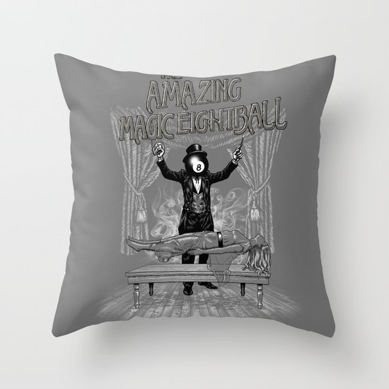 The Amazing Magic Eightball Throw Pillow