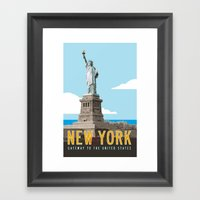 New York Travel Poster Framed Art Print