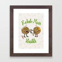 Kebab Mein Haddi Framed Art Print