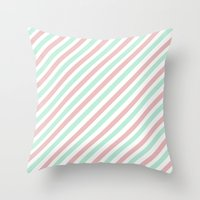 Candycane Throw Pillow