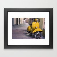 Scooter, Italy. Framed Art Print