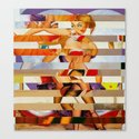 Glitch Pin-Up: Amber Canvas Print