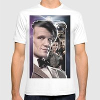 Doctor Who -11th Doctor Mens Fitted Tee White SMALL