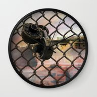 Wall Clock featuring Trapped by J.Lauren