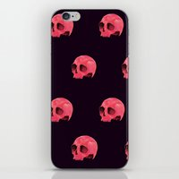 Pink Skull Pattern iPhone & iPod Skin