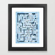 Which Way To The Bathroo… Framed Art Print