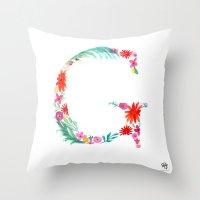 monograms - G Throw Pillow