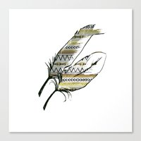 Tribal Feather Sunshine Canvas Print