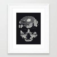 Echoes - Monochrome version Framed Art Print