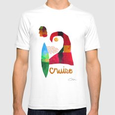 Cruise White SMALL Mens Fitted Tee