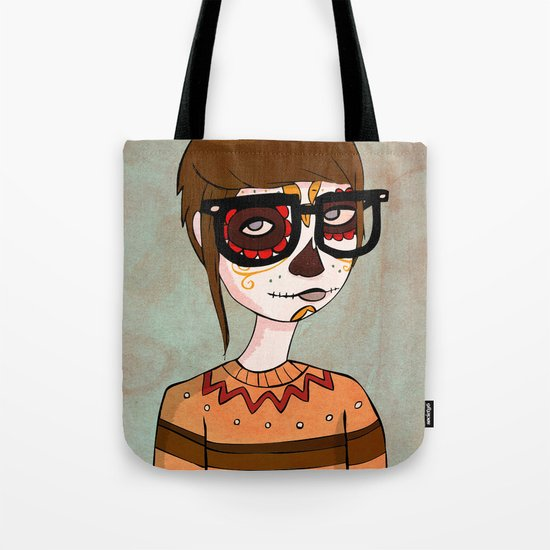 Day of the Dead Hipster Tote Bag