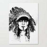 Look Inside - Black and White Canvas Print