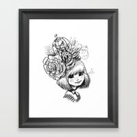 Sketchy Tee - Eliza Framed Art Print