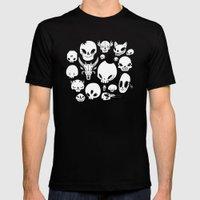 Skulls Mens Fitted Tee Black SMALL